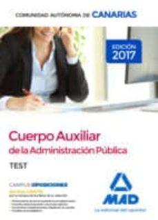 Inmaswan.es Cuerpo Auxiliar De La Administración Pública De La Comunidad Autónoma De Canarias. Test Image