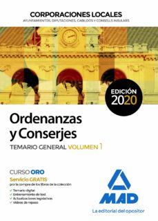 Titantitan.mx Ordenanzas Y Conserjes De Corporaciones Locales. Temario General (Vol. 1) Image