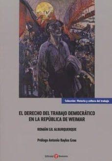 Inmaswan.es El Derecho Del Trabajo Democrático En La República De Weimar Image