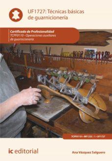 técnicas básicas de guarnicionería. tcpf110 (ebook)-ana vazquez salguero-9788417343583