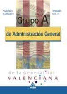 Lofficielhommes.es Grupo A De Administracion General De La Generalitat Valenciana. M Aterias Comunes. Temario (Vol. I) Image