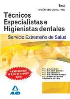Chapultepecuno.mx Tecnicos Especialistas E Higienistas Dentales Del Servicio Extrem Eño De Salud (Ses), Test De Materias Comunes Image