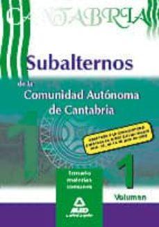 Inmaswan.es Temario Subalternos De La Comunidad Autonoma De Cantabria (Vol.1) Image