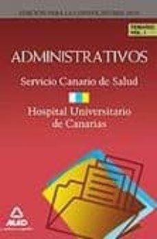 Cdaea.es Administrativos Del Servicio Canario De Salud/hospital Universita Ario De Canarias. Temario. Volumen I Image