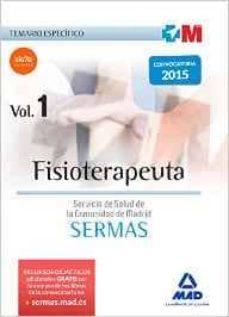 fisioterapeuta del servicio de salud de la comunidad de madrid. temario especifico volumen 1-9788467651683