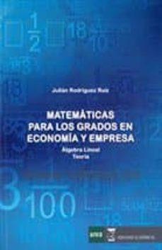 Geekmag.es Matematicas Para Los Grados En Economia Y Empresa Algebra Lineal Teoria Image