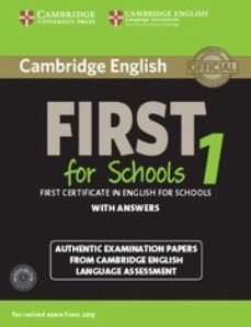 ¿Es seguro descargar torrents de libros electrónicos? CAMBRIDGE ENGLISH FIRST 1 FOR SCHOOLS FOR REVISED EXAM FROM 2015 STUDENT S BOOK PACK (STUDENT S BOOK WITH ANSWERS AND AUDIO CDS de