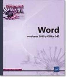 Libros en línea descargables gratis WORD (VERSIONES 2019 Y OFFICE 365) in Spanish de