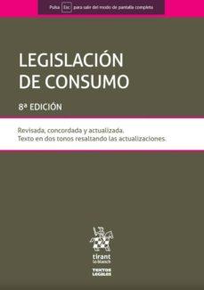 Los libros más vendidos: LEGISLACION DE CONSUMO  8ED