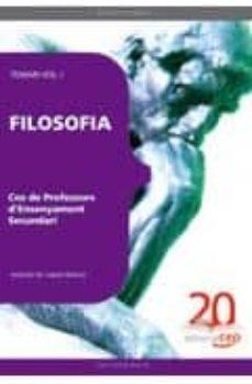 Viamistica.es Cos De Professors D Ensenyament Secundari. Filosofia. Temari Vol. I Image