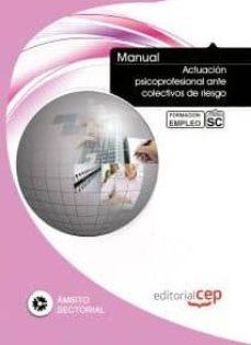 Bressoamisuradi.it Manual Actuacion Psicoprofesional Ante Colectivos De Riesgo. Form Acion Para El Empleo Image