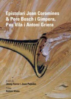 Chapultepecuno.mx Epistolari Joan Coromines &Amp; Pere Bosch I Gimpera Image