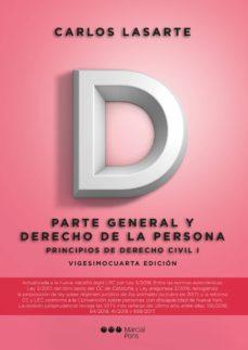 Descargar PRINCIPIOS DE DERECHO CIVIL TOMO I: PARTE GENERAL Y DERECHO DE LA PERSONA gratis pdf - leer online