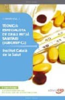 Emprende2020.es Tecnic/a Especialista Guau Mitjan (Subgrup C2) L Institut Catala De La Salud Temari Vol.i Image