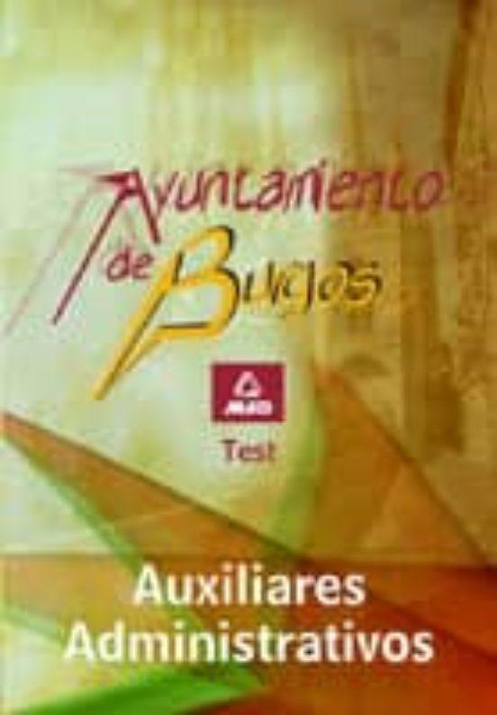 AUXILIAR ADMINISTRATIVO DEL AYUNTAMIENTO DE BURGOS. TEST
