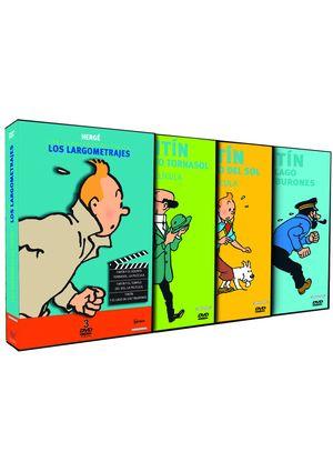 pack las aventuras de tintin. los largometrajes (dvd)-8414533075183