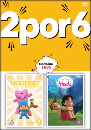 2 por 6: pocoyo+heidi (dvd)-8420266002105