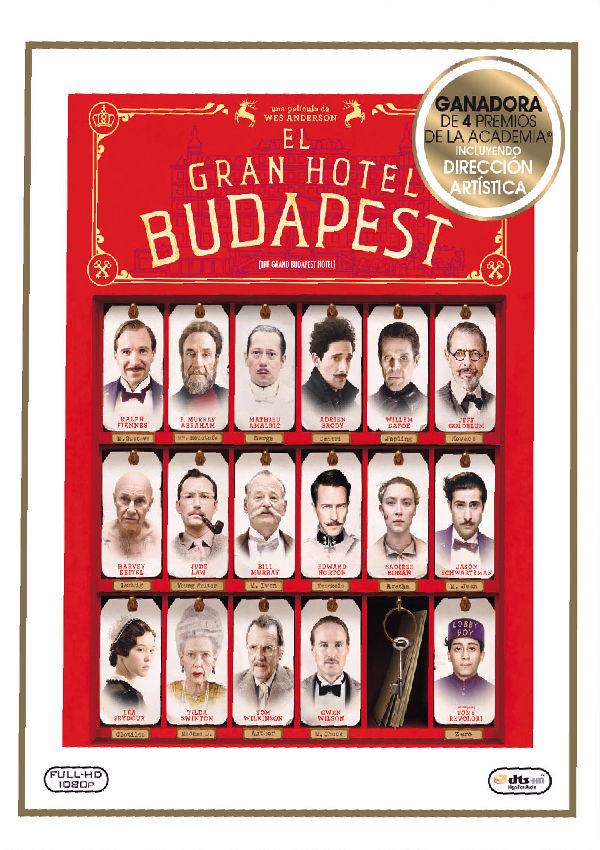 el gran hotel budapest - blu ray --8420266013941